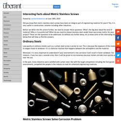 Interesting Facts about Metric Stainless Screws