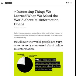 Mozilla misinformation 7 Interesting Things We Learned When We Asked the World About Misinformation Online