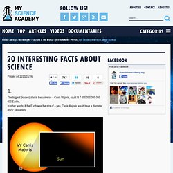 20 interesting facts about science