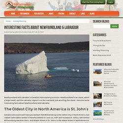Interesting facts about Newfoundland and Labrador
