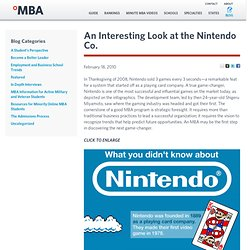 An Interesting Look at the Nintendo Co. - Online MBA