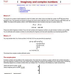 Interesting numbers - Imaginary and complex numbers