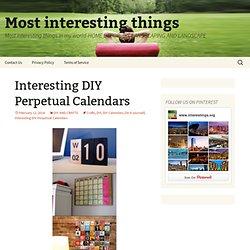 Interesting DIY Perpetual Calendars
