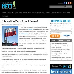 Interesting Facts About Poland