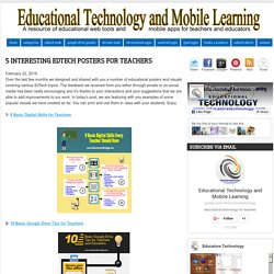 5 Interesting EdTech Posters for Teachers