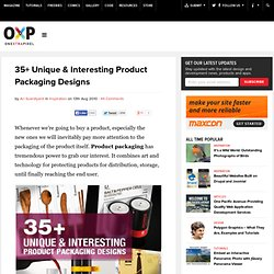 35+ Unique & Interesting Product Packaging Designs