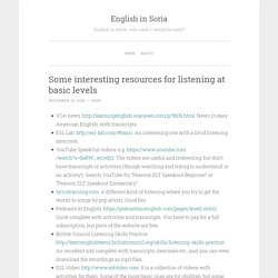 Some interesting resources for listening at basic levels