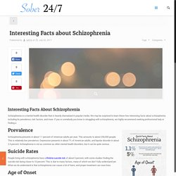 Interesting Facts about Schizophrenia - Sober 24/7