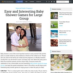 Easy and Interesting Baby Shower Games for Large Group
