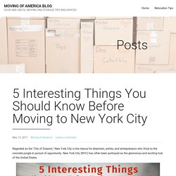 5 Interesting Things You Should Know Before Moving to New York City