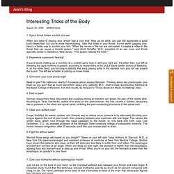 Interesting Tricks of the Body - Jean's Blog