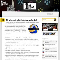 15 Interesting Facts About Volleyball
