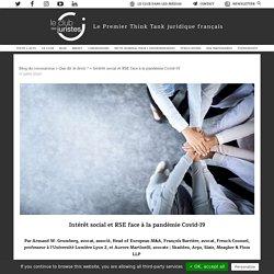 Intérêt social et RSE face à la pandémie Covid-19