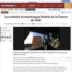 Conjoncture : Les intérêts économiques limités de la France au Mali