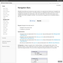 UIKit User Interface Catalog: Navigation Bars