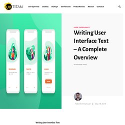 Writing User Interface Text – A Complete Overview - UX Titan