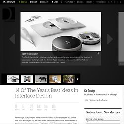 14 Of The Year's Best Ideas In Interface Design | Co.Design