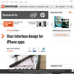 User interface design for iPhone apps