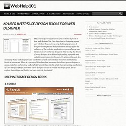 User Interface Design Tools for Web Designer | Web Help 101