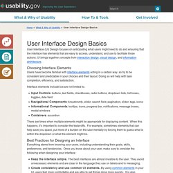User Interface Design Basics