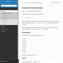 Command-Line Interface — beets 1.3.14 documentation
