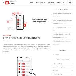 User Interface and User Experience - Altorum Leren