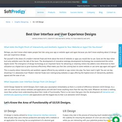 User Interface, User Experience Design Solutions