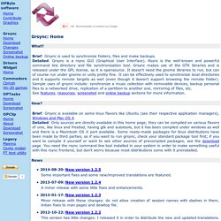 Grsync rsync GUI interface frontend