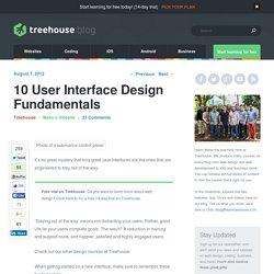 10 User Interface Design Fundamentals