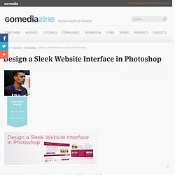 Tutorial: Design a Sleek Website Interface in Photoshop