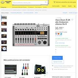 Interface Zoom R-24 Estudio Grabacion Simultaneo De 8 - $ 36.111,74 en Mercado Libre