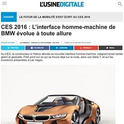 CES 2016 : L'interface homme-machine de BMW évolue à toute allure