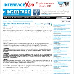 NZ Interface Magazine | Eight habits of highly effective 21st ce