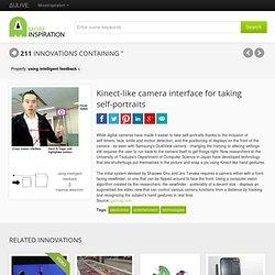 Kinect-like camera interface for taking self-portraits