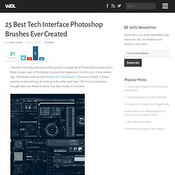 25 Best Tech Interface Photoshop Brushes Ever Created | Freebies