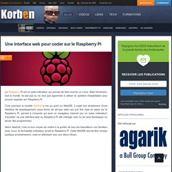 Une interface web pour coder sur le Raspberry Pi