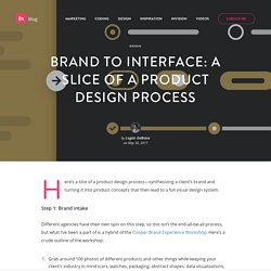 Brand to interface: A slice of a product design process