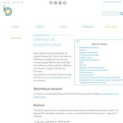 Interface de programmation - Thymio & Aseba