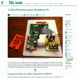 Cable d'interface pour Raspberry Pi