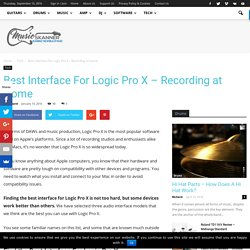 Best Interface For Logic Pro X - Recording at Home - Music Skanner
