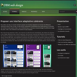 Creer une interface Responsive cohérente