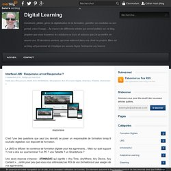 Interface LMS : Responsive or not Responsive ? - Digital Learning