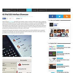 45 iPad iOS Interface Showcase - Inspiration