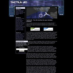 Tactile 3D Interface - Software to browse, explore, and organize your file-system in 3D.