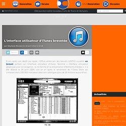 L'interface utilisateur d'iTunes brevetée