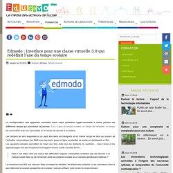 Edmodo : Interface pour une classe virtuelle 3.0 qui redéfinit l'axe du temps scolaire