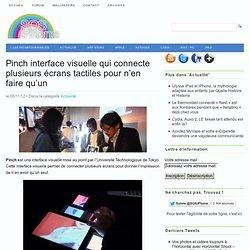 Pinch, interface visuelle qui connecte plusieurs écrans tactiles pour n'en faire qu'un