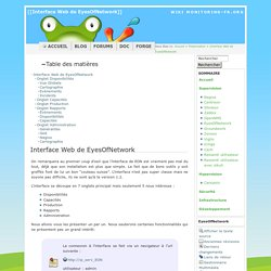 Interface Web de EyesOfNetwork