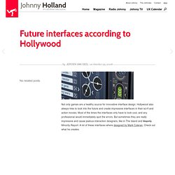 Future interfaces according to Hollywood