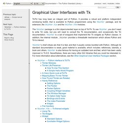 25. Graphical User Interfaces with Tk — Python 3.5.2 documentation